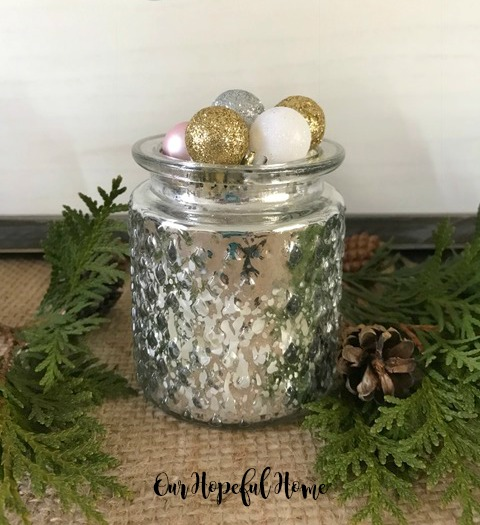 hobnail mercury glass sparkle ornament holiday decor rustic