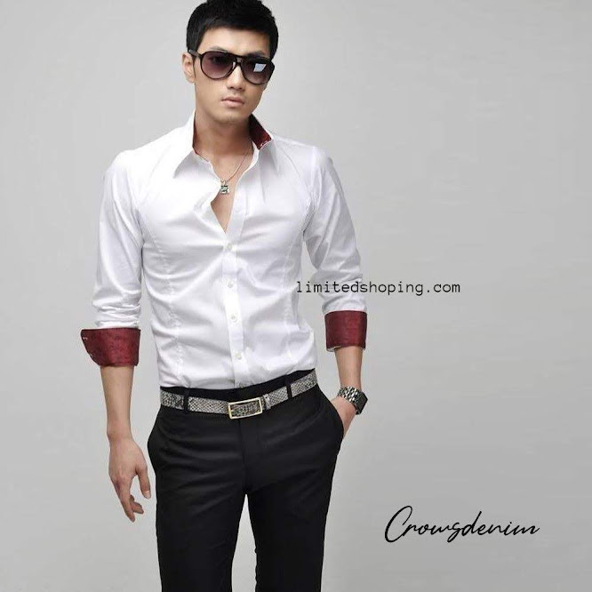 limited shoping sk10 kemeja putih korean style