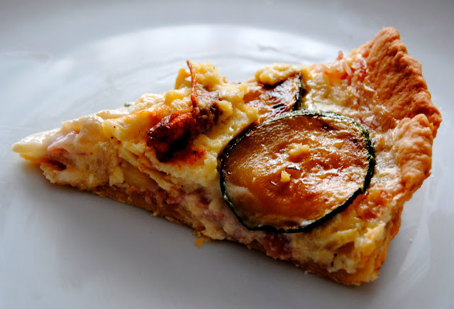 Quiche de Calabacines y Bacon