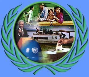 Imagen por el Día de las Naciones Unidas (Personas dentro del símbolo de las Naciones Unidas)