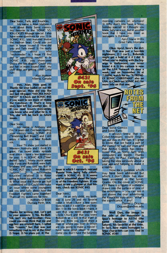 Read online Sonic The Hedgehog comic -  Issue #41 - 29