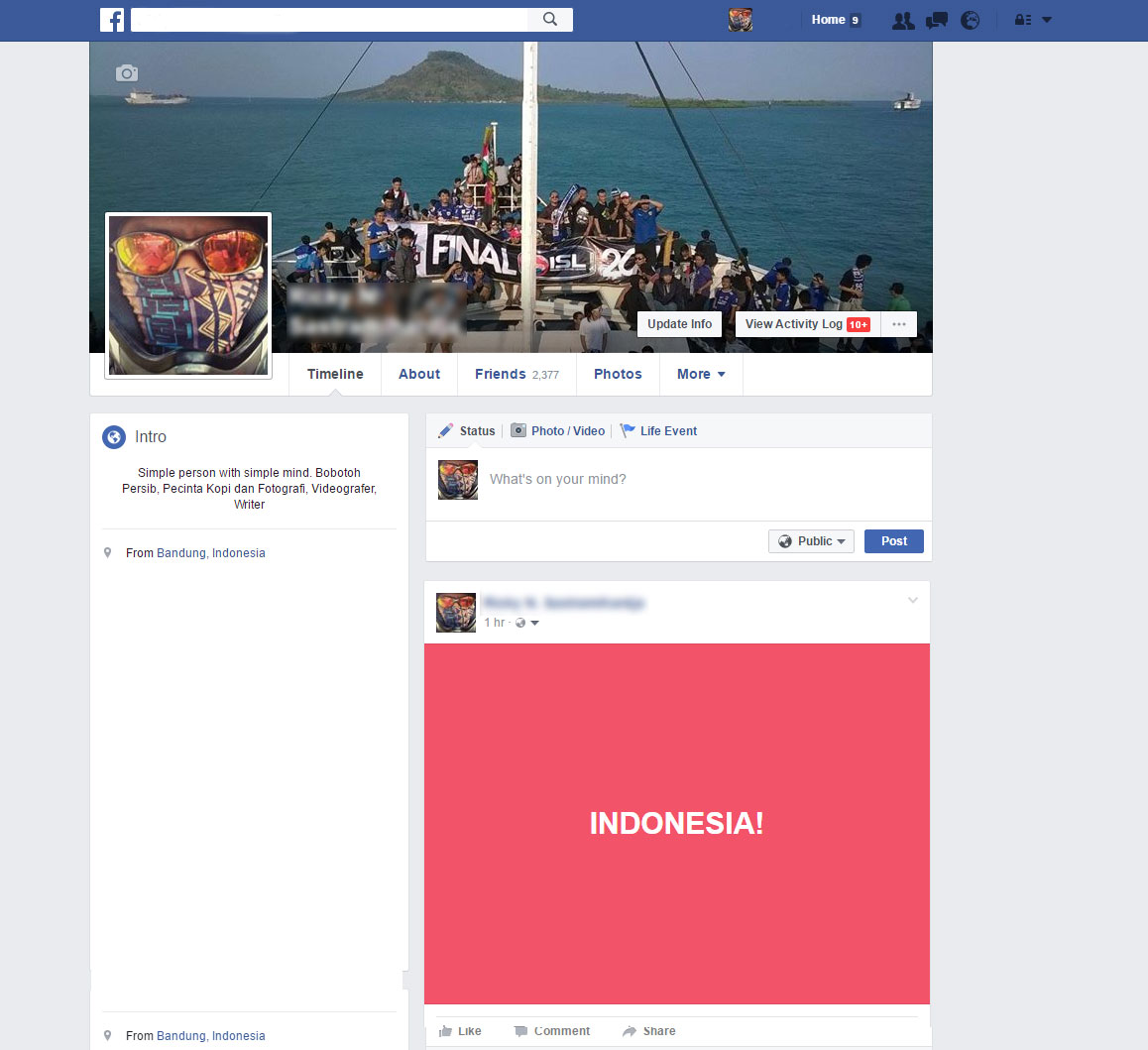 Cara Membuat Status Background Berwarna di Facebook