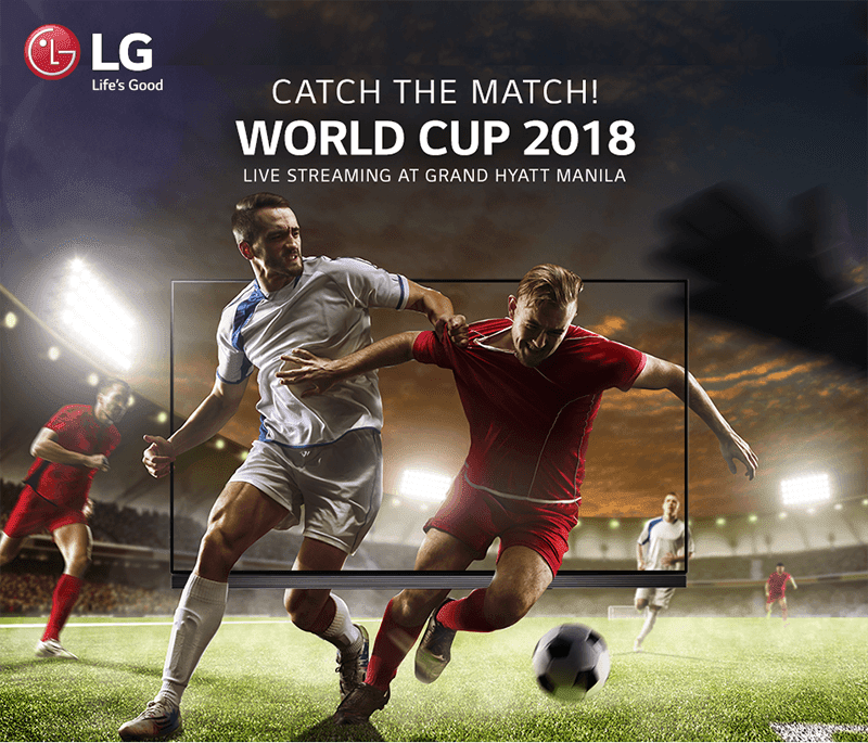 LG and Grand Hyatt Hotel will hold a World Cup 2018 viewing party