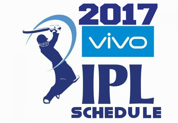 VIVO IPL 2017 TIME TABLE AND FIXTURES