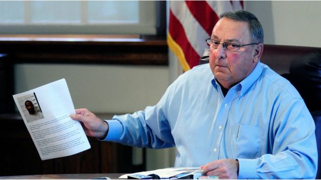 Maine Governor Paul LePage criticised for 'racist' remarks