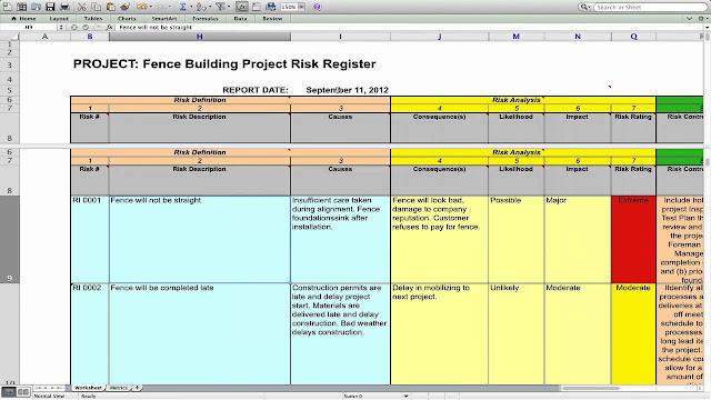 Risk Management Plan Template - ENGINEERING MANAGEMENT