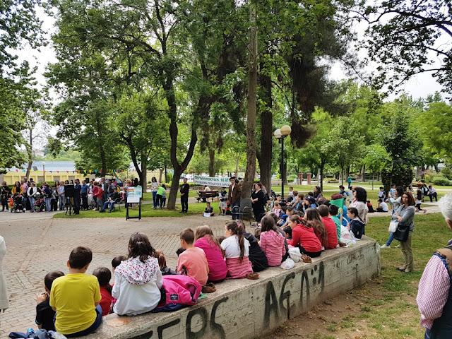 Πλήθος μαθητών στη Βοτανική Συλλογή του Δήμου Λαρισαίων
