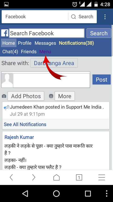 how to get facebook username