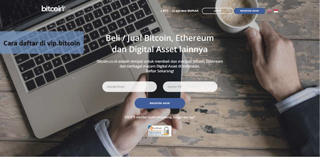Cara Daftar di vip.bitcoin