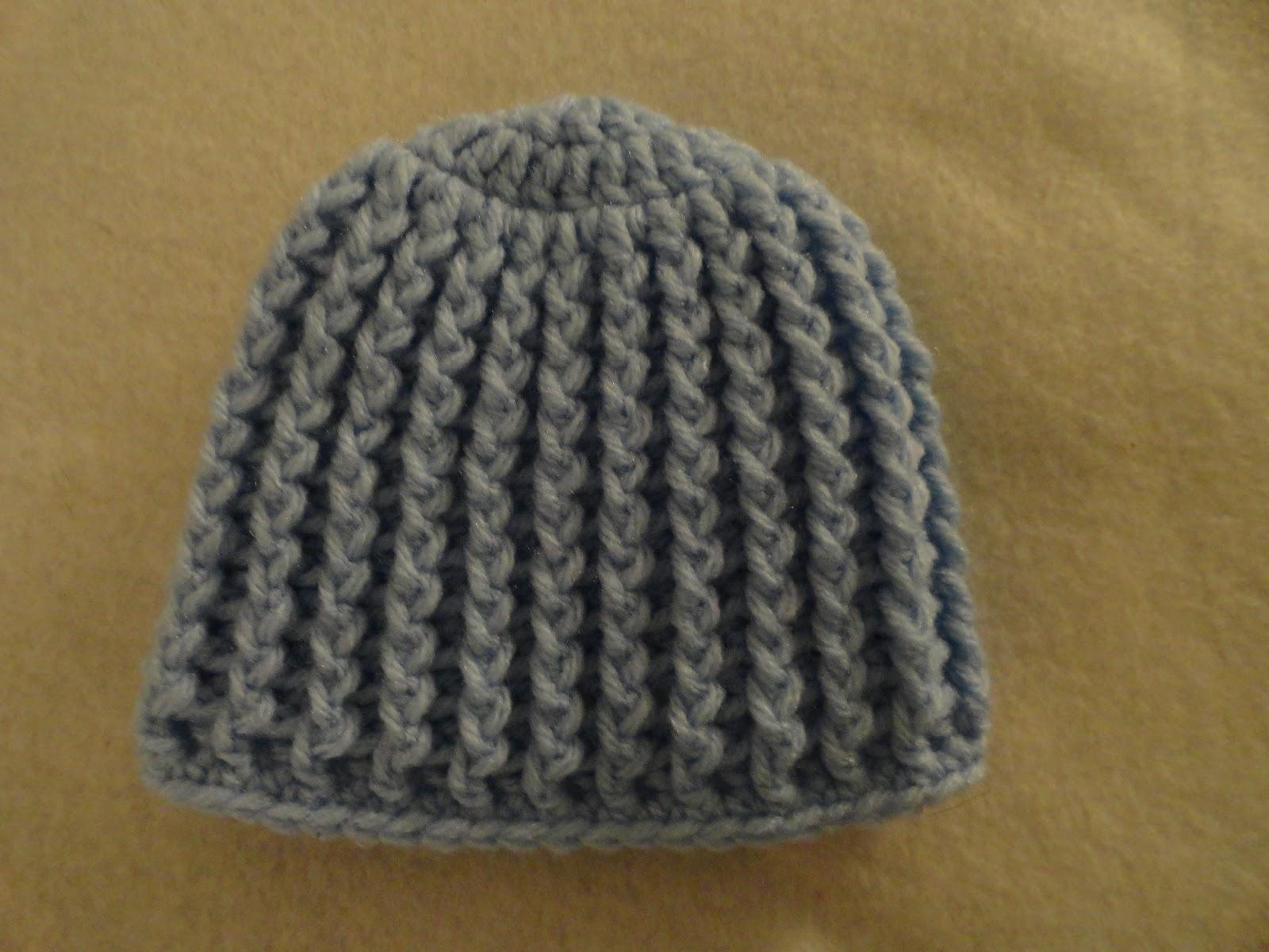 Crochet Crazy Mama Crochet Ribbed Baby Hats