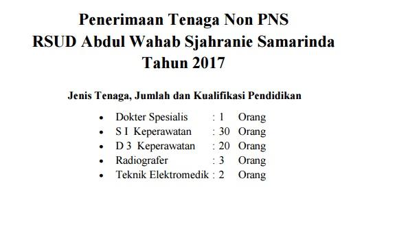 Rekrutmen RSUD Abdul Wahab Sjahranie Samarinda