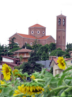The Church of Santa Maria Assunta dominates the town of Coriano