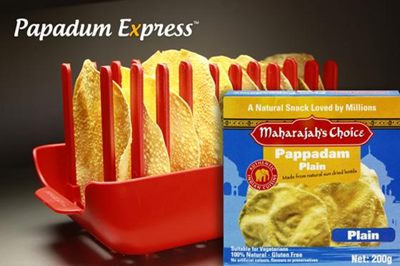 Papadum Express® - Maharaja's Pappadams. Microwave cook 10 in 60 seconds!