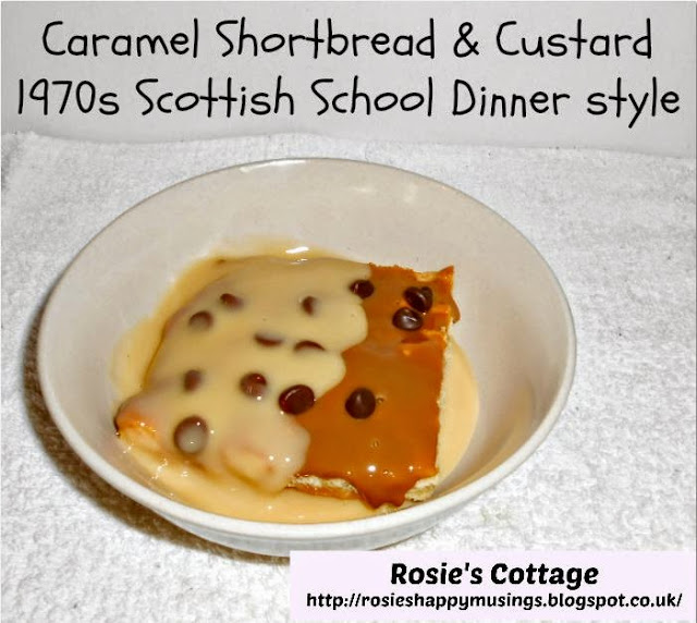 Scottish Caramel Shortbread And Custard