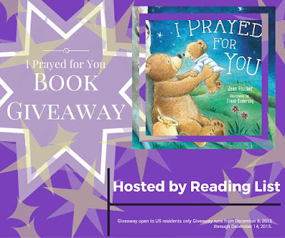 I Prayed for You  A Giveaway on Reading List  Runs through Dec 15, 2015