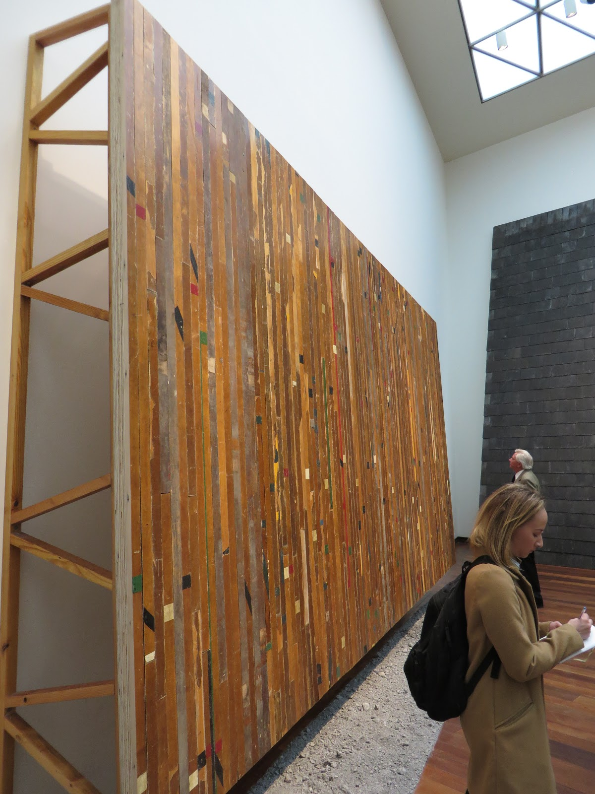 Superb Theaster Gates at the National Gallery of Art Feb in front of his Game of My Own Photo by Patricia Leslie