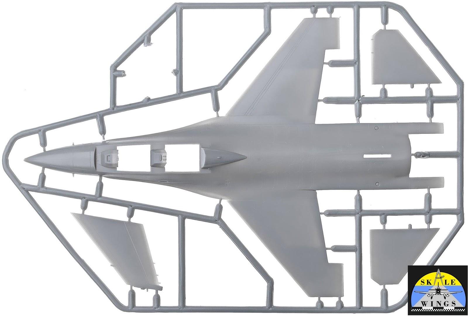 IDS F-16 BARAK SKALE WINGS PLASTIC KIT 1//72