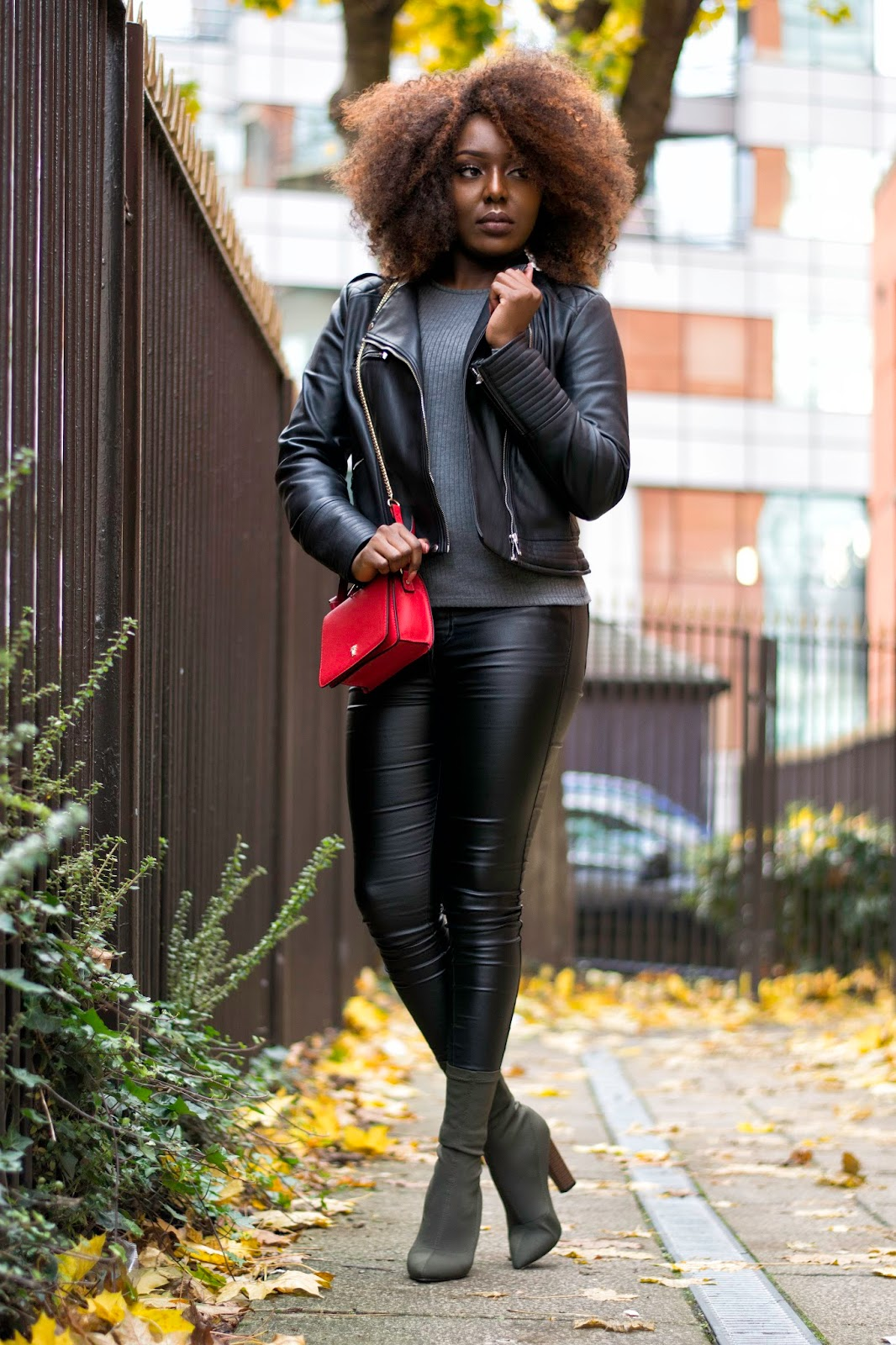 Street Style Faux Leather Pants Stephylately