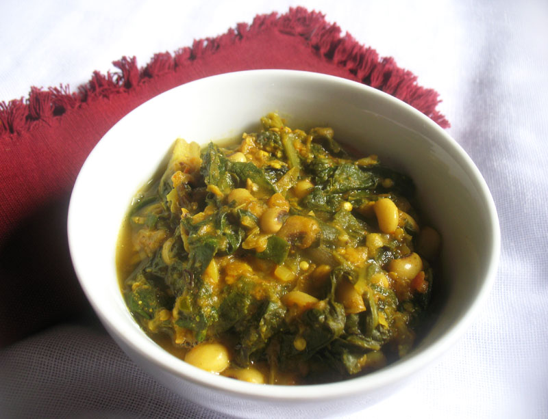 Spicy Black-Eyed Pea Curry with Swiss Chard and Roasted Eggplant ...