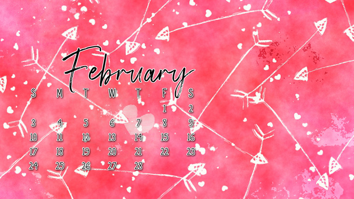 Free Digital Calendar for February