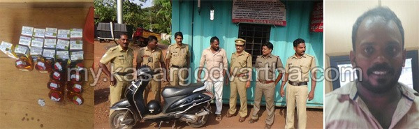 Kerala, News, Crime, Alcohol, Scooter, Youth Arrested, Excise, Youth held with liquor.