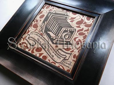 Socarrat personalizado, de diseño original de Socarrat Artesanía, con enmarcación I-G paralos premios de A.V.V. La Canyada, Paterna
