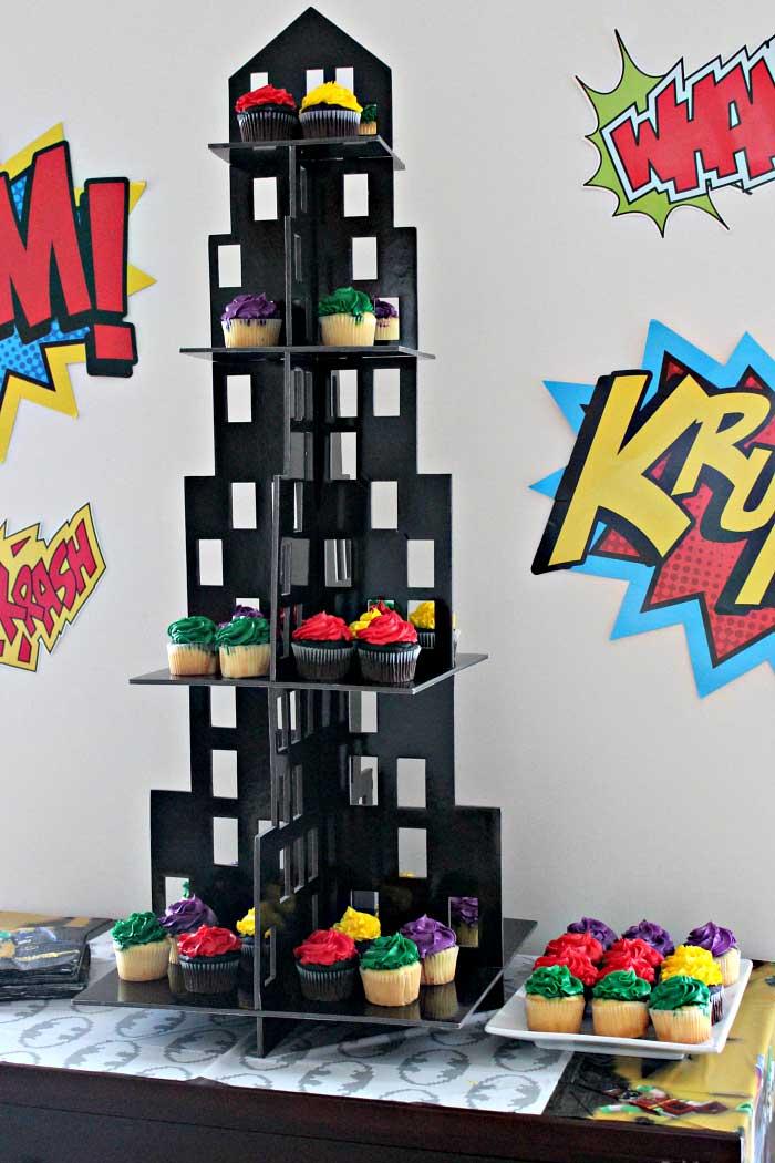 Batman Throwing Birthday Cake