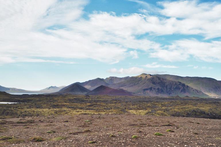 Paysage volcanique et montagne en Islande