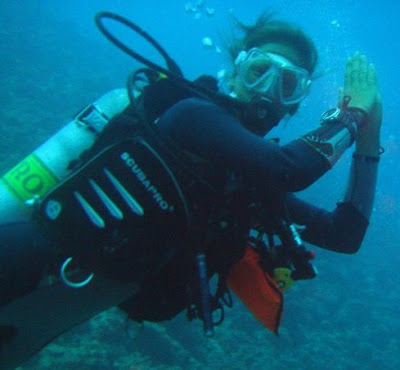 Photo of Ellis Derkx diving Enriched Air Nitrox