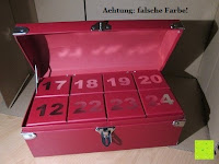 Erfahrungsbericht: Adventskalender als piratige rustikale Schatztruhe - 24 einzelnen Schatzboxen - Ideal für den Advent