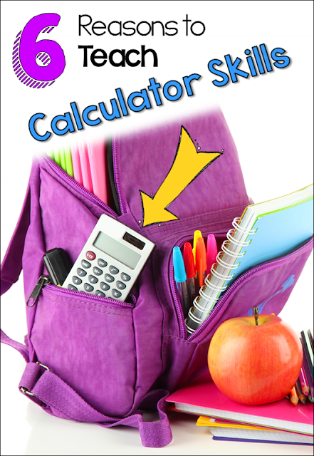 6 reasons to teach calculator skills to upper elementary students, including how calculators foster mathematical thinking. Free calculator quiz in the post!