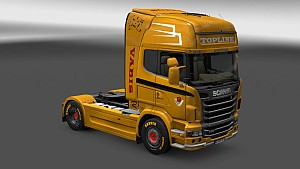 Yellow Scania R Topline skin
