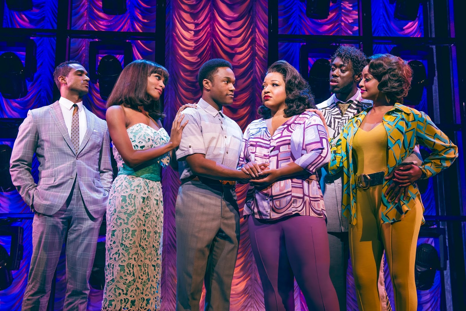 first look  new cast of dreamgirls join the show at the