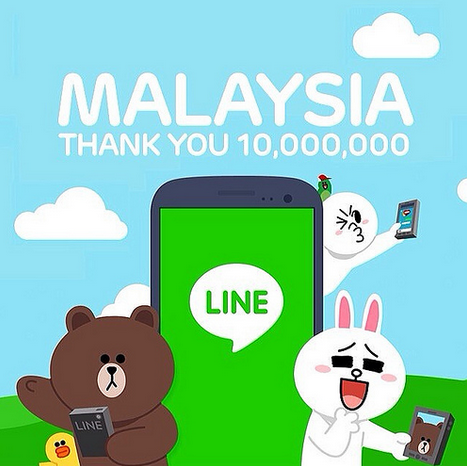 10 million LINE users in Malaysia