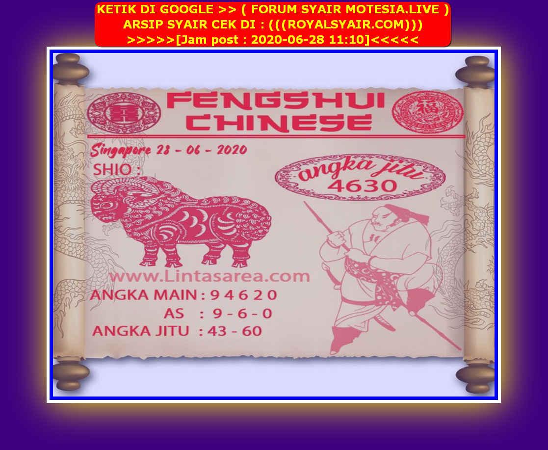 Kode syair Singapore Minggu 28 Juni 2020 93