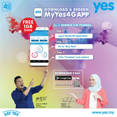 Download My Yes 4G App Free 1GB Data Internet Promo