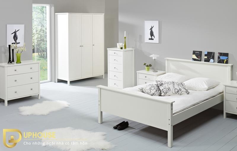 Nội thất phòng ngủ màu trắng 06