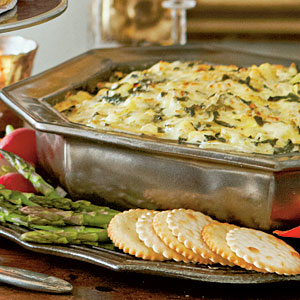 hot spinach and artichoke dip is an unbeatable appetizer that will please the whole party