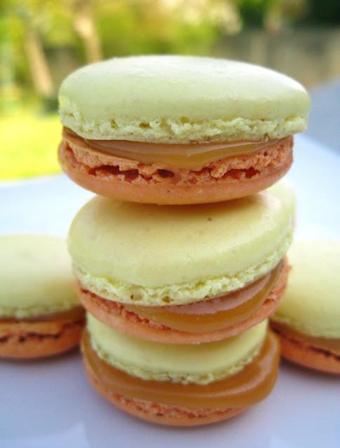 Macarons pommes caramel au beurre salé