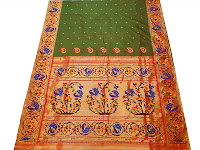 Paithani Silk saree with elaborate zari work
