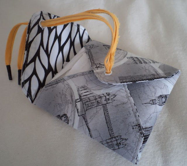 fabric envelope crafted by eSheep Designs