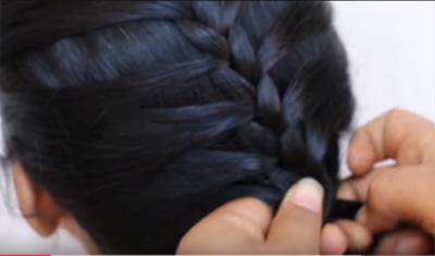 Indian Hair Do's For Wedding & Function:Cute Hair Braid n Bun For Brides
