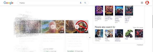 Thanos Google Trick