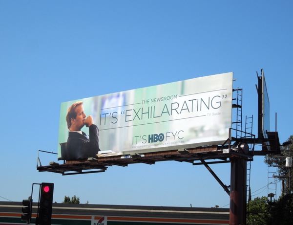 Newsroom Exhilarating HBO Emmy billboard