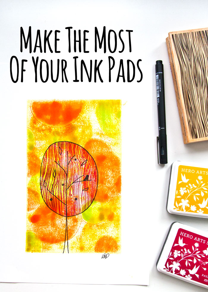 Make the most of your ink pads, video tutorial from Kim Dellow