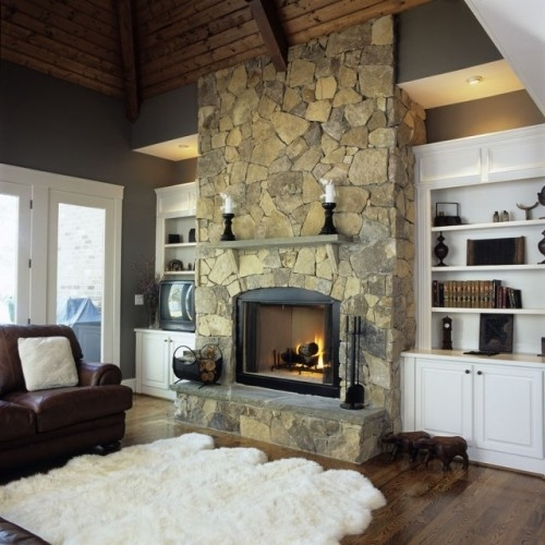 Stone Fireplace Next To The Outdoor Kitchen And A Lovely: Through The Front Door
