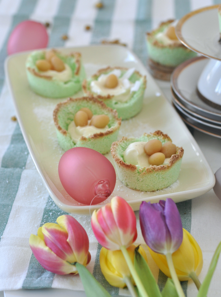 pretty and delicious Coconut Easter Baskets, glutenfree