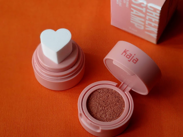Kaja Beauty Cheeky Stamp Blendable Blush in Coy 001 Review, Photos, Swatches