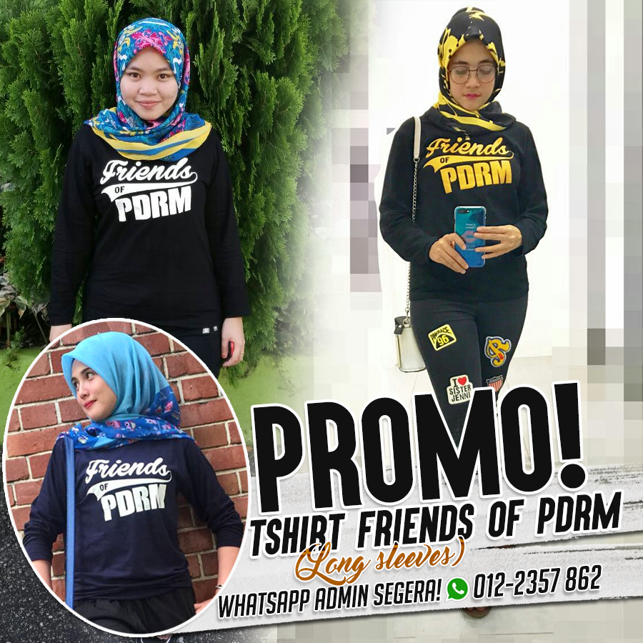 TSHIRT FRIENDS OF PDRM, LENGAN PANJANG !