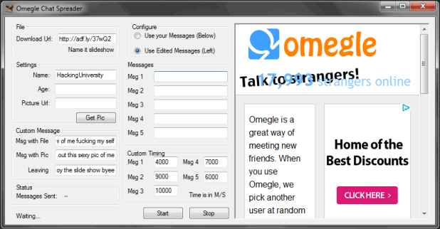 Omegle Hack Tool - Omegle Spy Bot - Omegle Chat Spreader